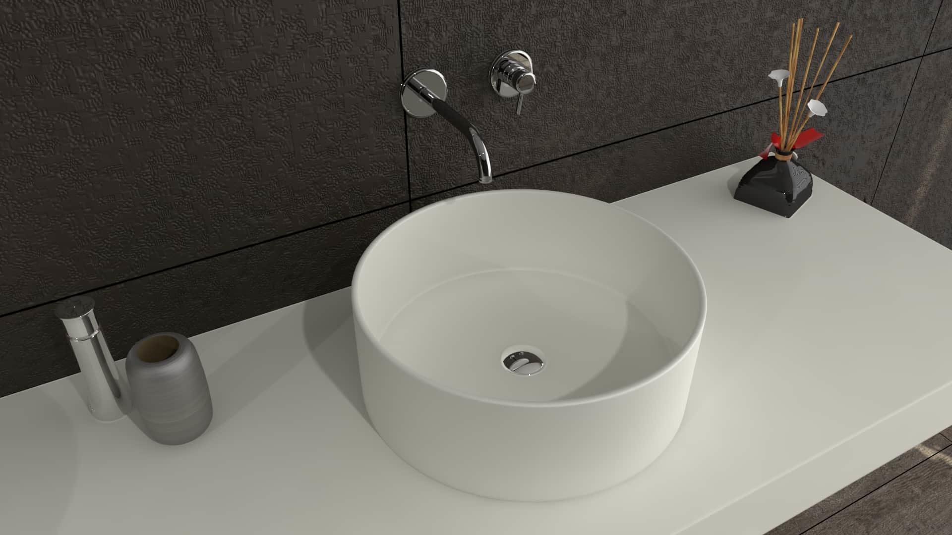 Defiant round solidz premium hi macs solid surface waskom