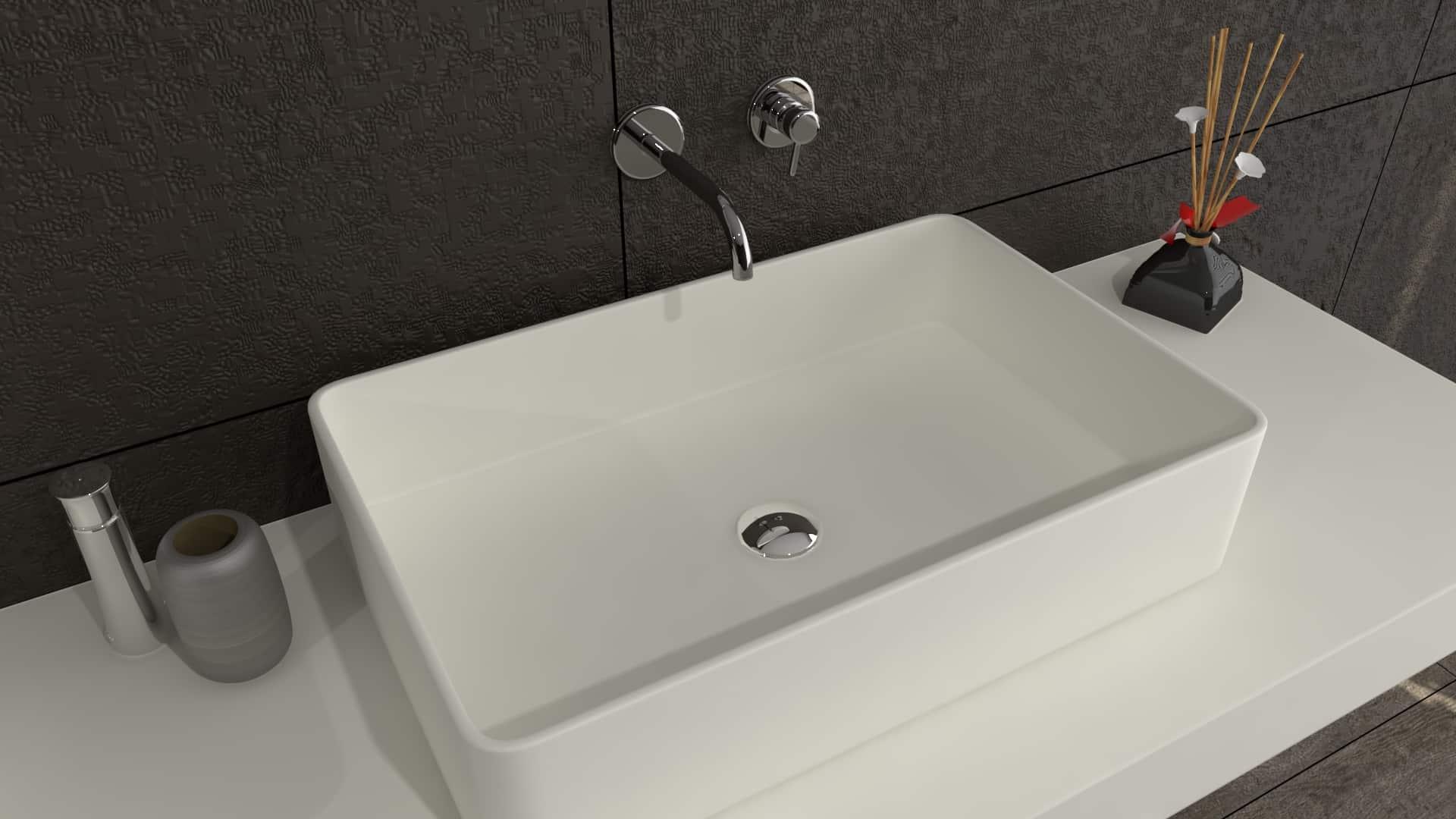 Defiant rectangle solidz premium hi macs solid surface waskom