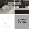 Defiant round Solidz maatvoering