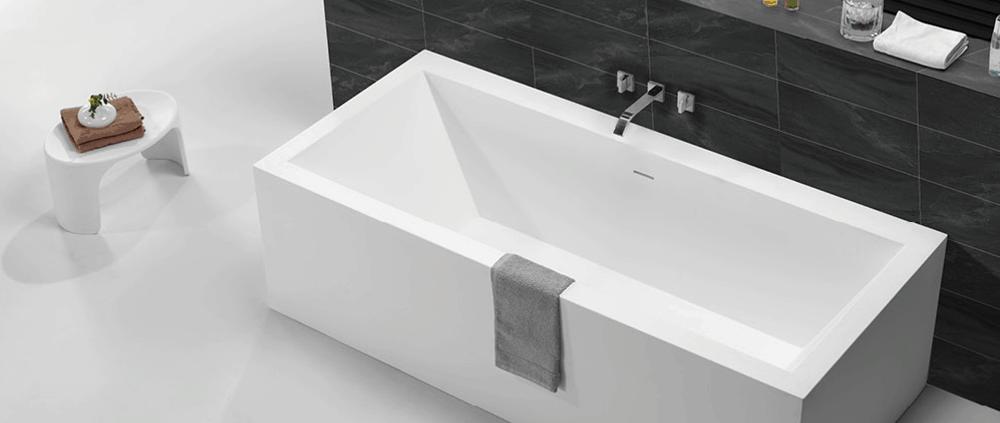 Rechthoekige Solid Surface baden