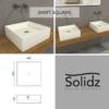 swift square solidz maatvoering