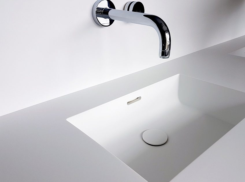 HI-MACS wastafel Slim collectie Incollato Solid Surface
