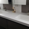 Solidz Incollato Series - Solid Surface Wastafel - HIMACS - Dubbel sideview