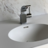 Solid Surface wastafel Creato Oval left