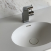 Solid Surface wastafel Creato Oval top recht