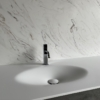 Solidz Thermo Oval Front - Solid Surface wastafel Corian - HI-MACS - detail