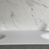 Solidz Thermo Oval Front - Solid Surface wastafel Corian - HI-MACS - dubbel