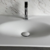 Solidz Thermo Oval Front - Solid Surface wastafel Corian - HI-MACS - front