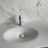 Solidz Thermo Oval Front - Solid Surface wastafel Corian - HI-MACS - topview