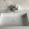CORIAN QUIET 7120 - SOLID SURFACE WASTAFEL - CORIAN DESIGNER WHITE TOP VIEW