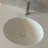 Ovale Solid Surface spoelbak - Incollato Oval - Corian Neutral Aggregate achterwand - top