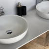 Thick Round Solid Surface Opzetkom dubbel - meubel - 2